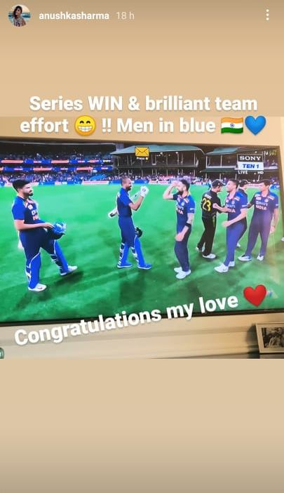 Anushka Sharma's Instagram story
