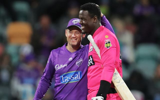 Colin Ingram and Carlos Brathwaite