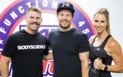 David Warner and his wife with Mark Wahlberg