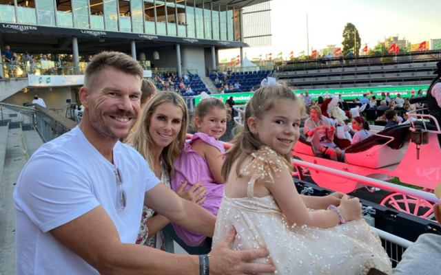 David Warner with his family
