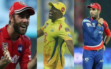 Glenn Maxwell, Dwayne Bravo and Yuvraj Singh IPL