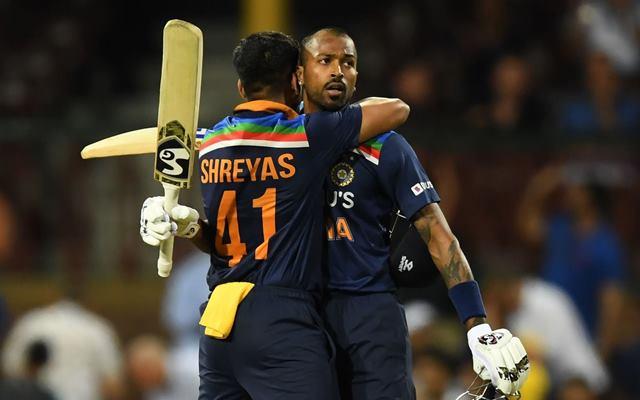 Hardik Pandya and Shreyas Iyer of India