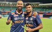 Hardik Pandya and T Natarajan