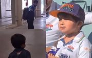 Jasprit Bumrah and his young fan