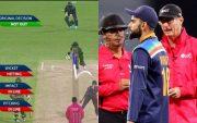 Matthew Wade, Virat Kohli and Umpires