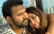 Rohit Sharma and his wife Ritika Sajdeh