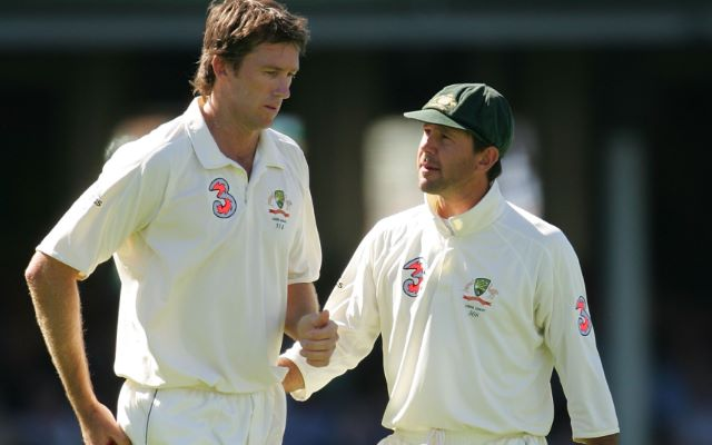 Glenn McGrath and Ricky Ponting