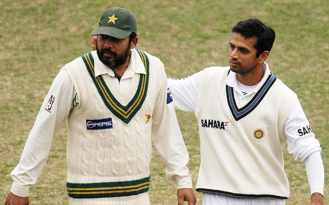 Inzamam-ul-Haq and Rahul Dravid