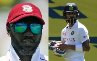Jermaine Blackwood and Virat Kohli