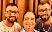 Krunal Pandya and Hardik Pandya with their father