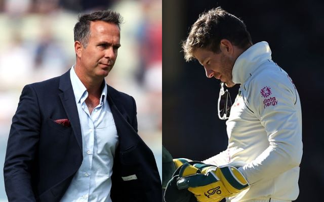 Michael Vaughan and Tim Paine