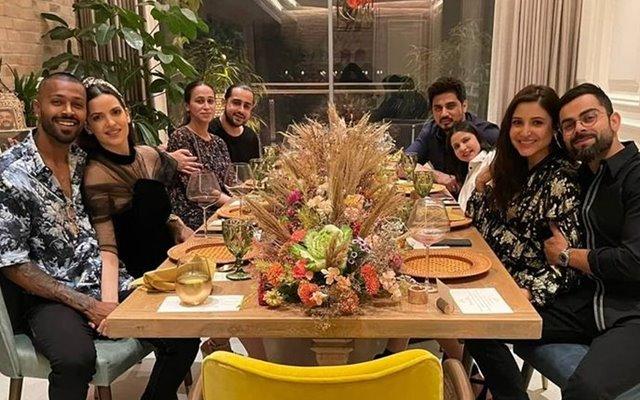 Anushka Sharma and Virat Kohli ring in 2021 with friends