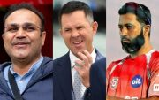 Virender Sehwag, Ricky Ponting and Wasim Jaffer