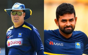 Mickey Arthur and Lahiru Thirimanne