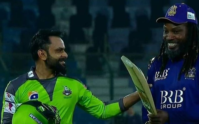 Mohammad Hafeez and Chris Gayle