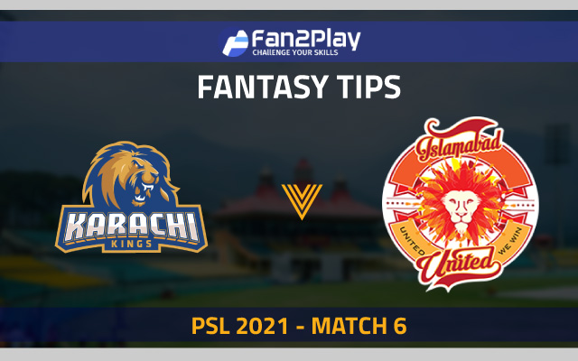 PSL 2021, Match 6 – KK vs ISL: Fan2Play Fantasy Cricket Tips, Prediction, Playing XI and Pitch Report