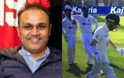 Virender Sehwag, Rohit Sharma, Rishabh Pant and Jack Leach