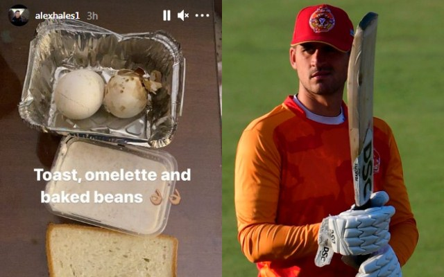 Alex Hales indirectly trolls PCB by posting picture of poor quality food offered to him