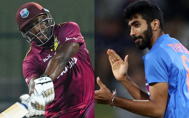 Andre Russell and Jasprit Bumrah