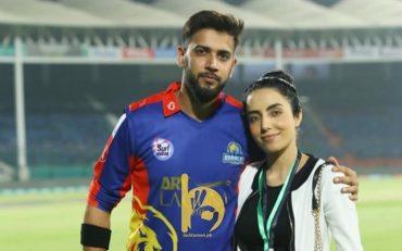 Imad Wasim and wife