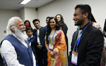 Narendra Modi and Shakib Al Hasan
