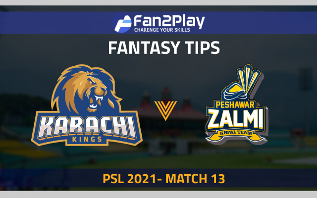 PSL 2021, Match 13 – KAR vs PES: Fan2Play Fantasy Cricket Tips, Prediction, Playing XI and Pitch Report