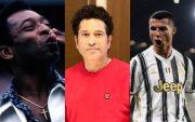 Pele, Sachin Tendulkar and Cristiano Ronaldo
