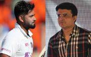 Rishabh Pant and Sourav Ganguly