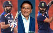 Rohit Sharma, Sunil Gavaskar and Virat Kohli