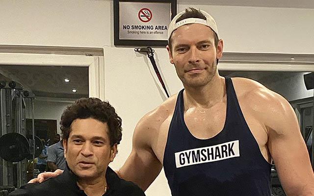 Sachin Tendulkar and Chris Tremlett