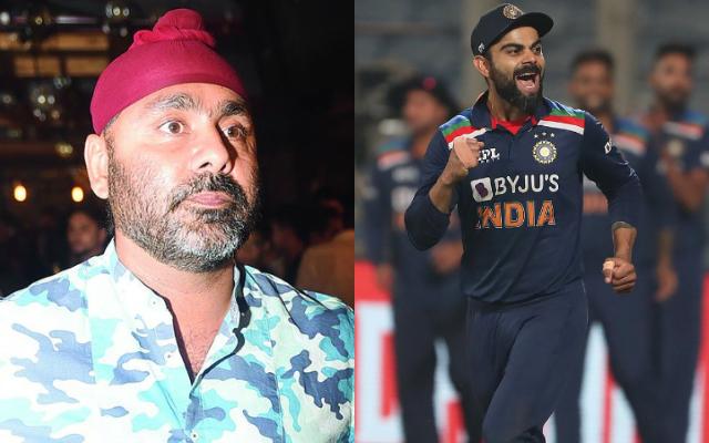 Sarandeep Singh and Virat Kohli