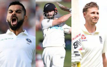 Virat Kohli, Kane Williamson and Joe Root