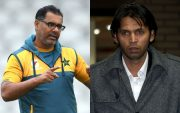 Waqar Younis and Mohammad Asif