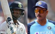 Washington Sundar and Ravi Shastri