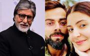Amitabh Bachchan, Virat Kohli, and Anushka Sharma