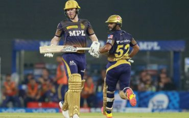 Eoin Morgan and Rahul Tripathi