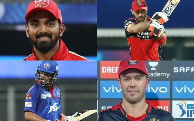 KL Rahul, Glenn Maxwell, Prithvi Shaw, and AB de Villiers