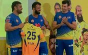 MS Dhoni, Cheteshwar Pujara, and Stephen Fleming