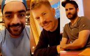Rashid Khan, David Warner and Kane Williamson