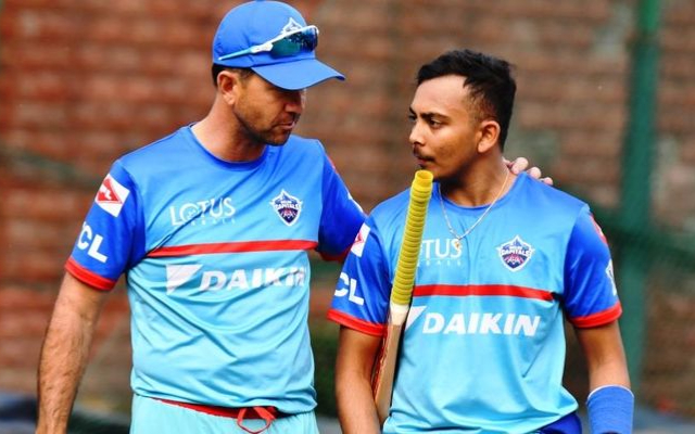 Ricky Ponting and Prithvi Shaw