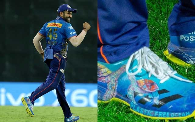 IPL 2021: Rohit Sharma sports another message on his shoe to raise an environmental concern