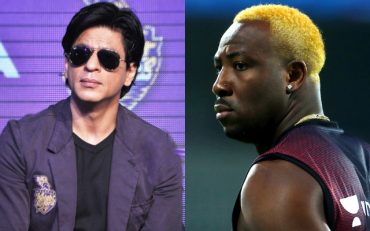Shah Rukh Khan and Andre Russell