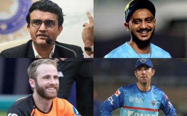 Sourav Ganguly, Axar Patel, Kane Williamson, and Ricky Ponting