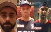 Virat Kohli, AB de Villiers, and Glenn Maxwell