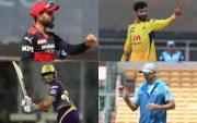 Virat Kohli, Ravindra Jadeja, Shubman Gill, and Rahul Dravid