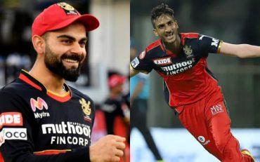 Virat Kohli and Shahbaz Ahmed