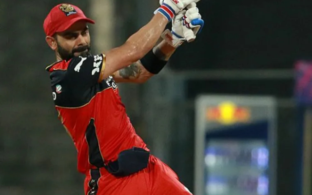 Virat Kohli playing a shot