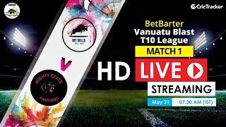 Vanuatu Blast T10 League 2020 Live Streaming : 1st Match MT Bulls vs Mighty Efate Panthers