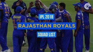 IPL 2018: RR Full Squad