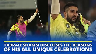 South Africa spinner Tabraiz Shamsi reveals the reason behind his shoe-phone & magician celebrations